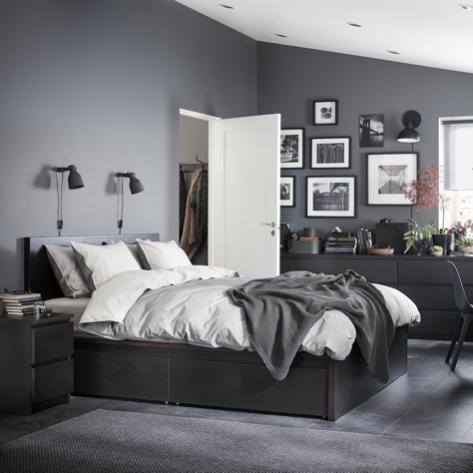 Nákupy do domčeka 🏡 - Postel pre syna-Malm 140x200, Ikea.