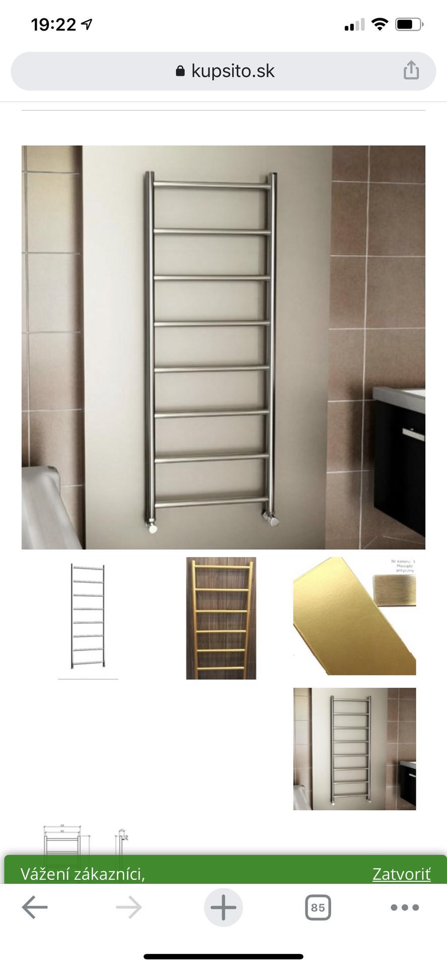 Nákupy do domčeka 🏡 - Radiátor v zlatej farbe do kúpeľne ba prízemí 🙂