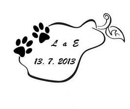 Můj původní návrh - L a E Hruškovi + naše psí láska nesmí chybět :)