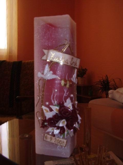 Zuzka a Erik - Naša svadobná sviečka :-)))