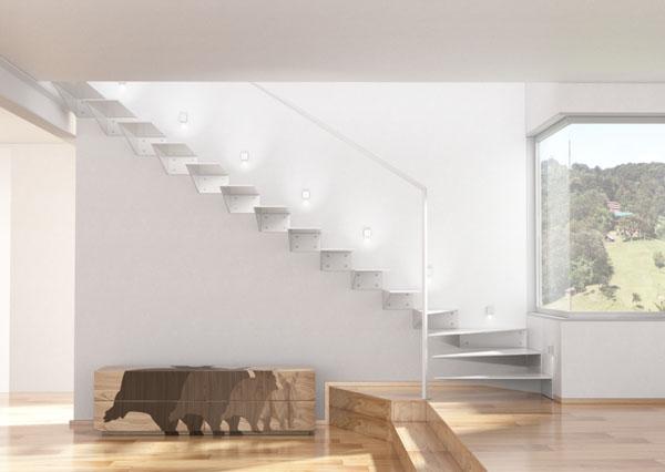 LED osvětlení schodiště... - Vhodně osvětlené schodiště, kde světlo má směřovat dolů aby neoslňovalo.