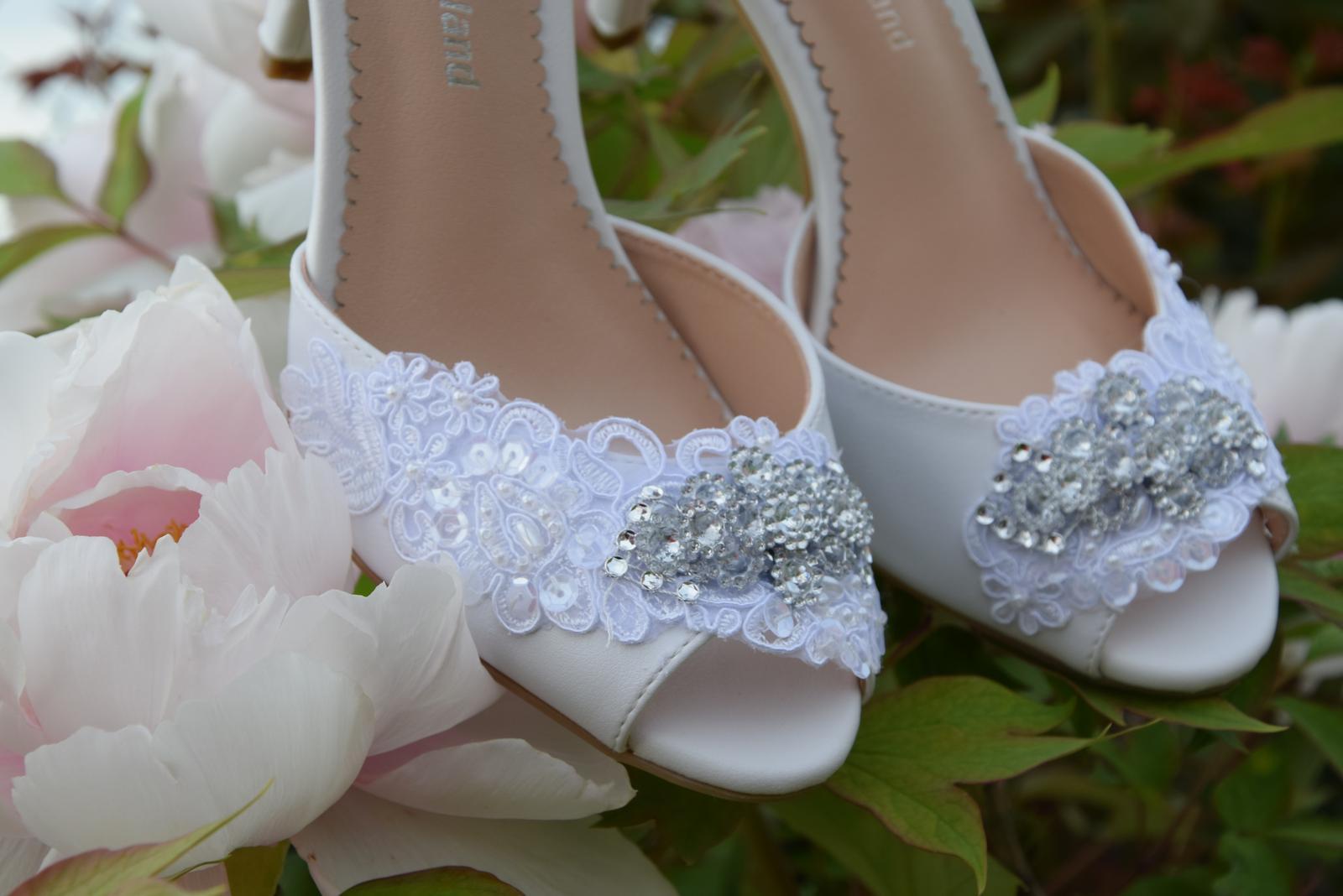 """Svadobné topánky """"Pivónia"""" - Obrázok č. 1"""