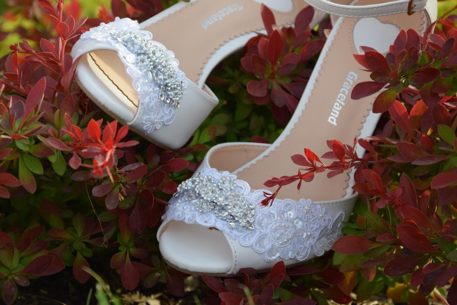 """Svadobné topánky """"Pivónia"""" - Obrázok č. 2"""