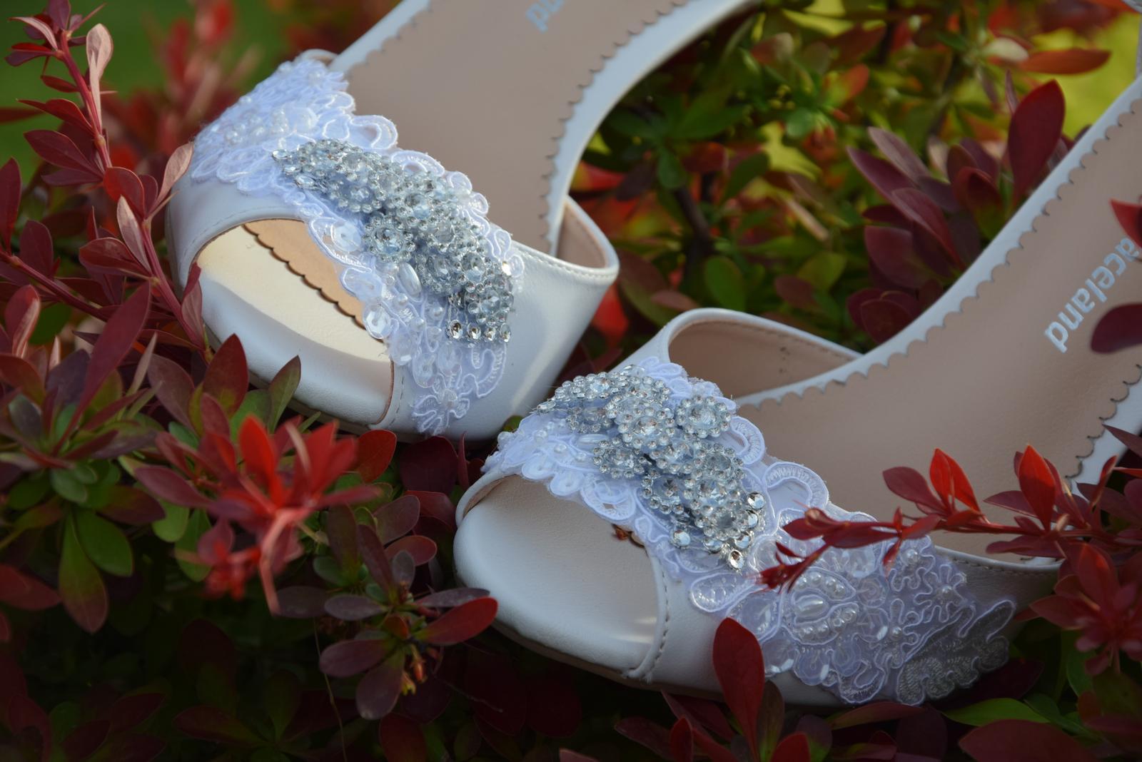 """Svadobné topánky """"Pivónia"""" - Obrázok č. 3"""