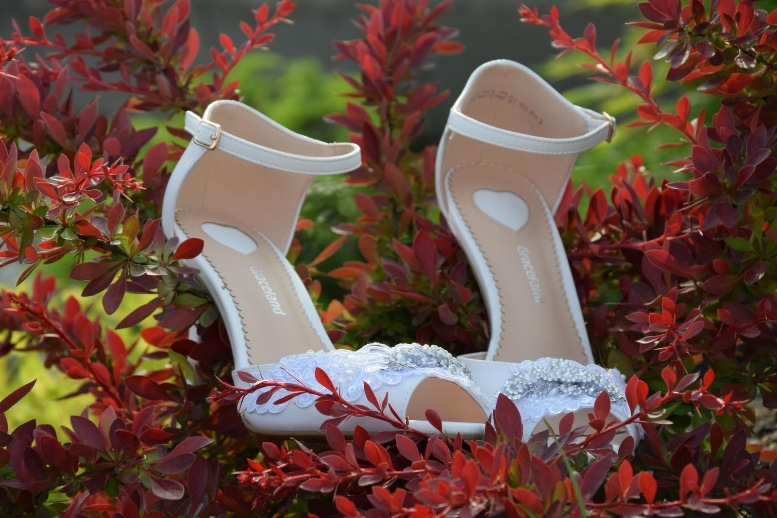 """Svadobné topánky """"Pivónia"""" - Obrázok č. 4"""