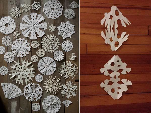 Veď aj SNAHA sa cení! - snehové vločky z papiera