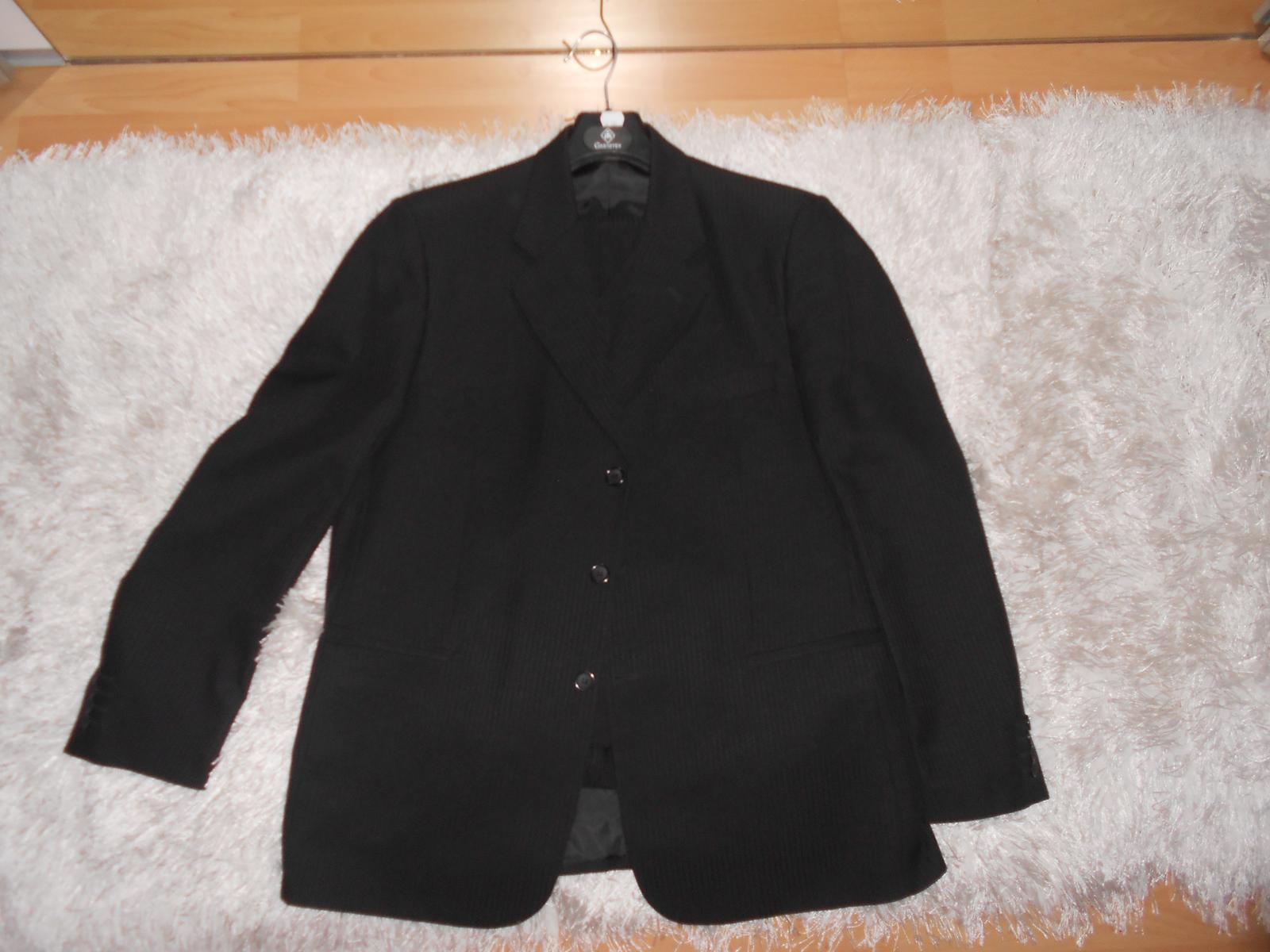 Oblek čierny + 2ks košele a kravaty gratis - Obrázok č. 2