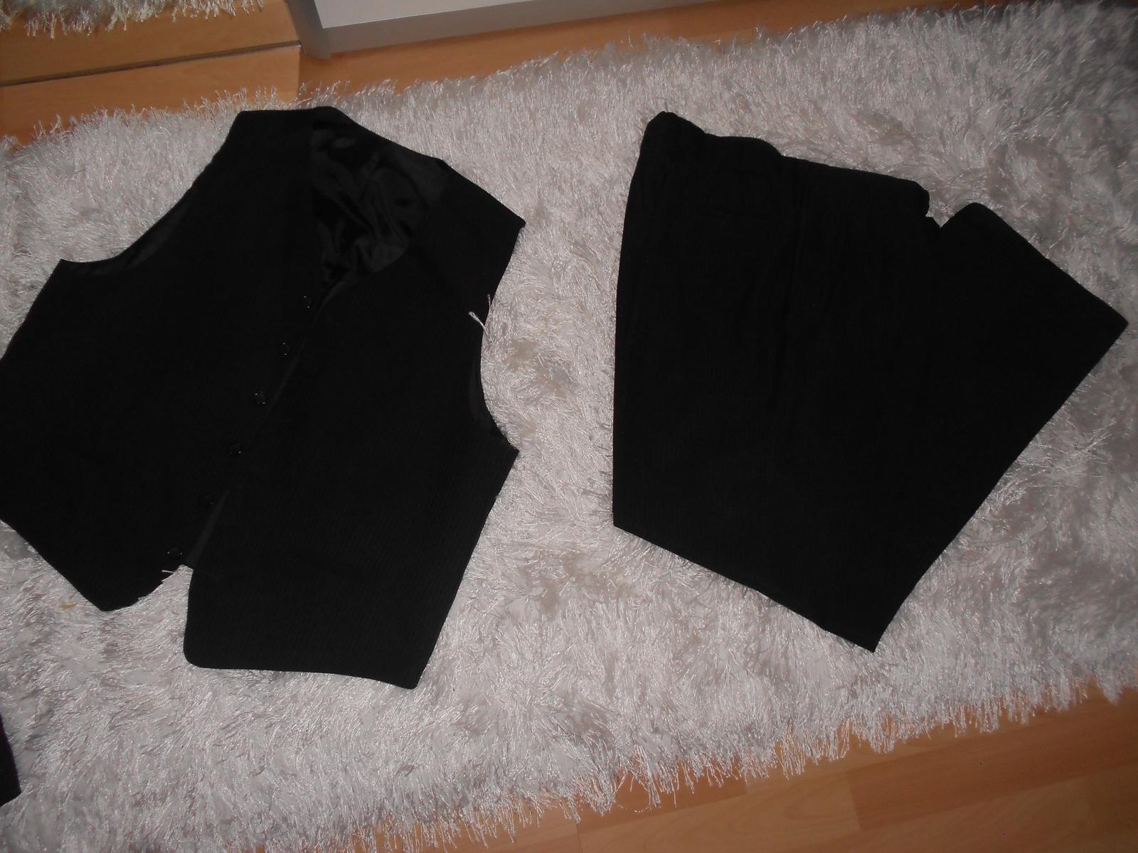Oblek čierny + 2ks košele a kravaty gratis - Obrázok č. 3