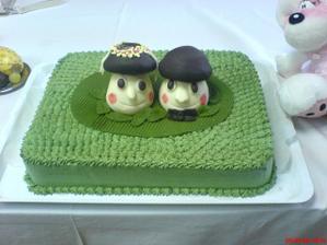 Oslavu jsme měli na chalupě...takže tak trochu stylový dortík