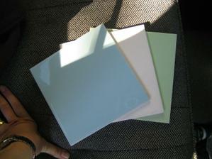 """Barvičky do naší """"retro"""" koupelny.. ještě vybrat barvu spárovačky"""