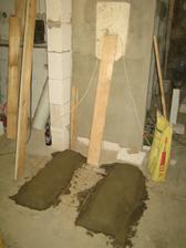 """betonové pásy pro naše """"ultra lehká"""" kamínka"""