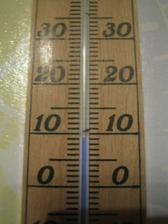 Pracovně-provozní teplota, nic moc, ale když se člověk hýbe, tak nezmrzne :-)