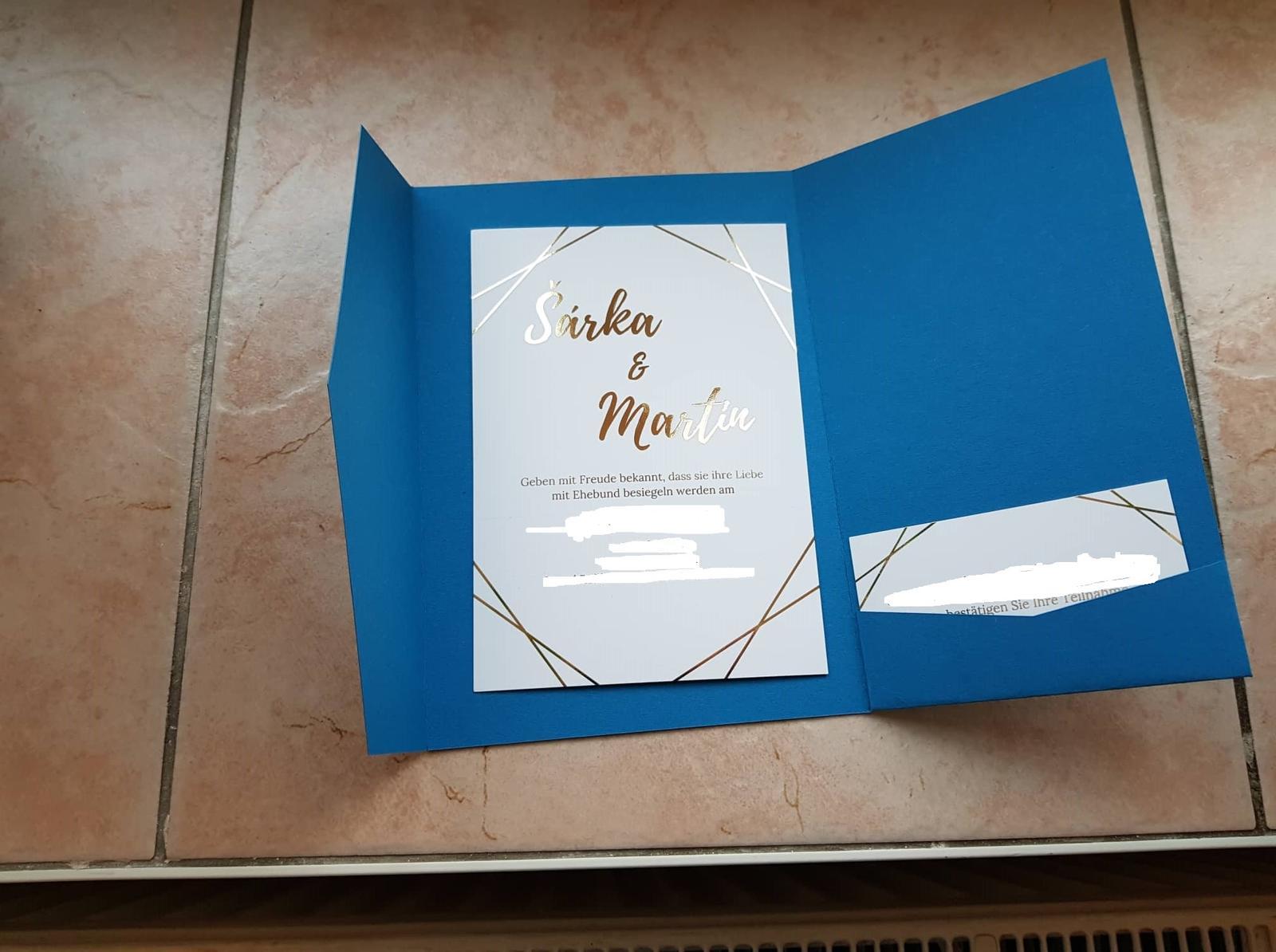 Obálka na svatební oznámení s kapsou  - Obrázek č. 1