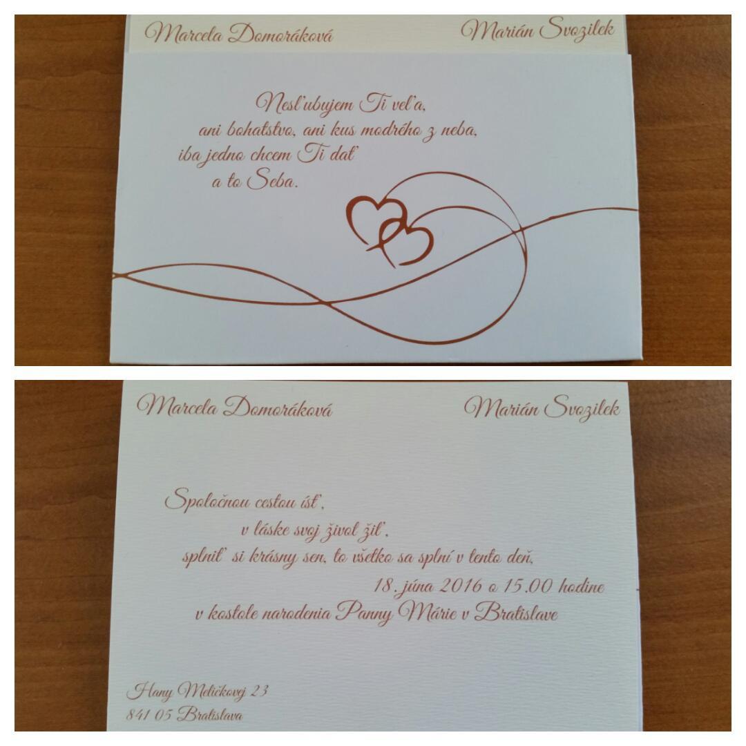 52eb97702e Ukážte Vaše svadobné oznámenia - - Svadobné oznám... - str. 14