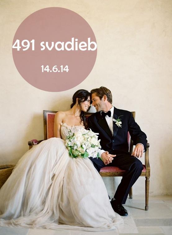 Dnes je ten deň, kedy sa koná najviac svadieb tohto roka. Na Slovensku a Česku je to dokopy 703 svadieb, pričom tých slovenských je 491.* Všetkým nevestám želám prekrásny svadobný deň! A tým, ktoré včera tipovali v malej srdiečkovej súťaži idem posielať srdiečka :) - Obrázok č. 1