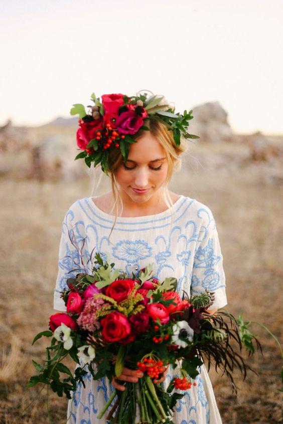 Svadobné účesy oživené kvetmi - Obrázok č. 50