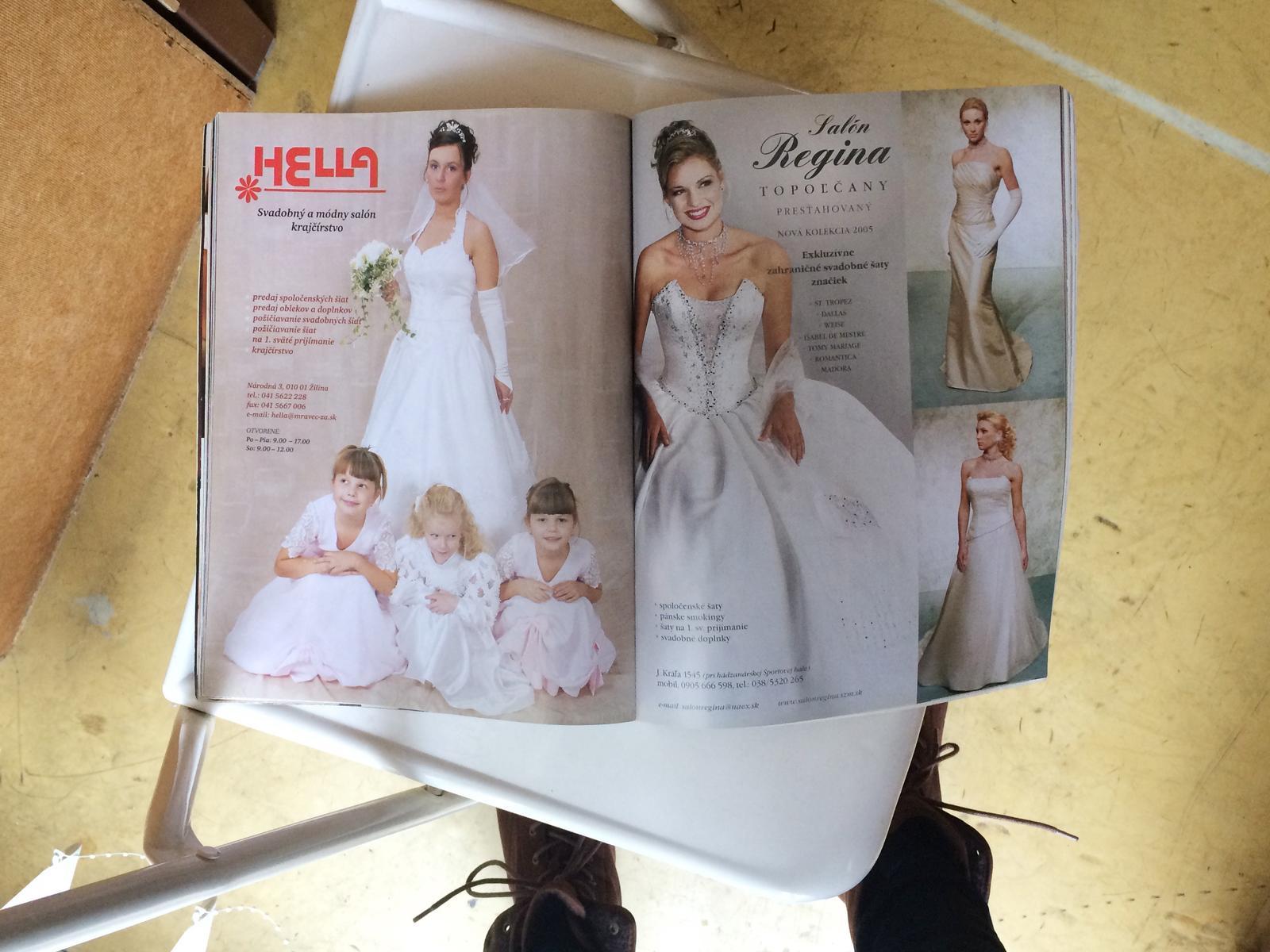 Dnes som našla svadobný časopis z roku 2005 a nad niektorými svadobnými trendami z toho obdobia som sa dosť pousmiala a tešila sa, že sa vytratili :) Napadá vám niečo, čo by sa podľa vás do svadobnej módy už nemalo vrátiť? :) - Obrázok č. 1
