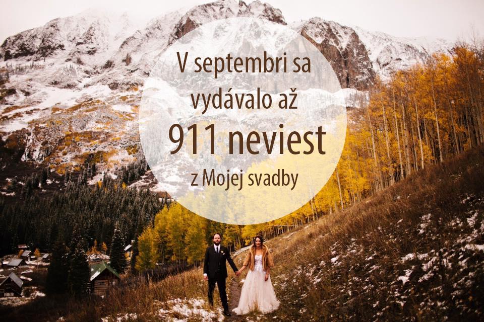 September bol na svadby naozaj bohatý. Vedeli ste, že až 911 našich neviest sa tento rok vydávalo práve v septembri? :) veľmi sa teším na všetky svadobné albumy, ktoré tu už pribúdajú, aj na tie, ktoré budú postupne pribúdať! :) - Obrázok č. 1