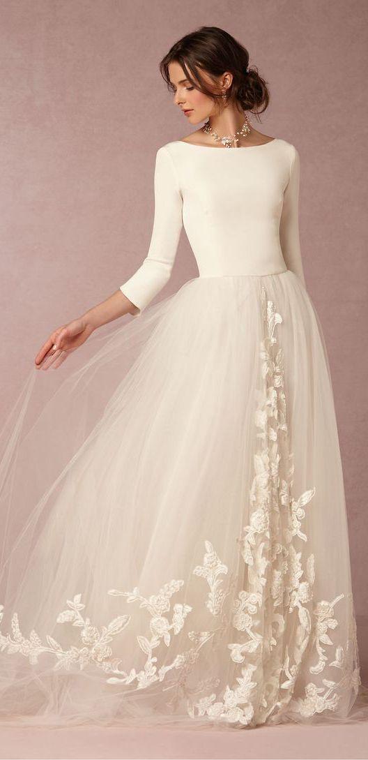 Svadobné šaty s dlhými rukávmi - Obrázok č. 1