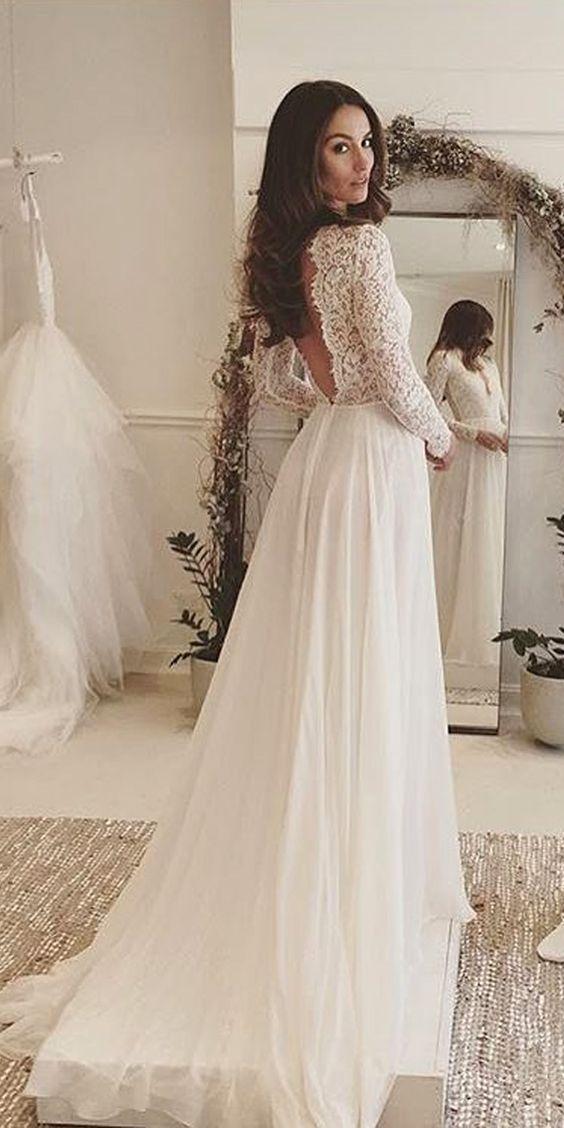 Svadobné šaty s dlhými rukávmi - Obrázok č. 6