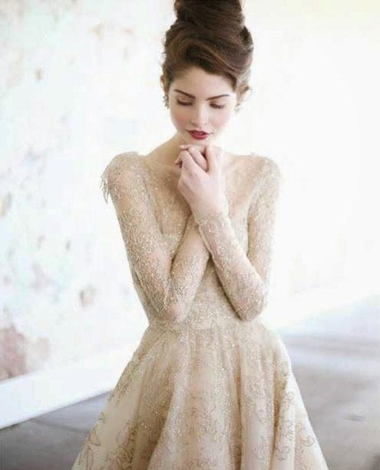 Svadobné šaty s dlhými rukávmi - Obrázok č. 15