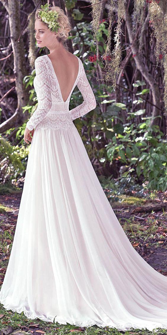 Svadobné šaty s dlhými rukávmi - Obrázok č. 24