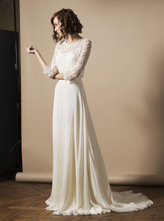 Svadobné šaty s dlhými rukávmi - Obrázok č. 25