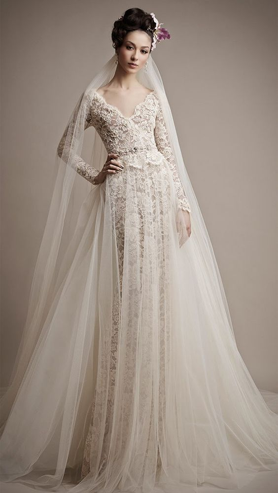 Svadobné šaty s dlhými rukávmi - Obrázok č. 28