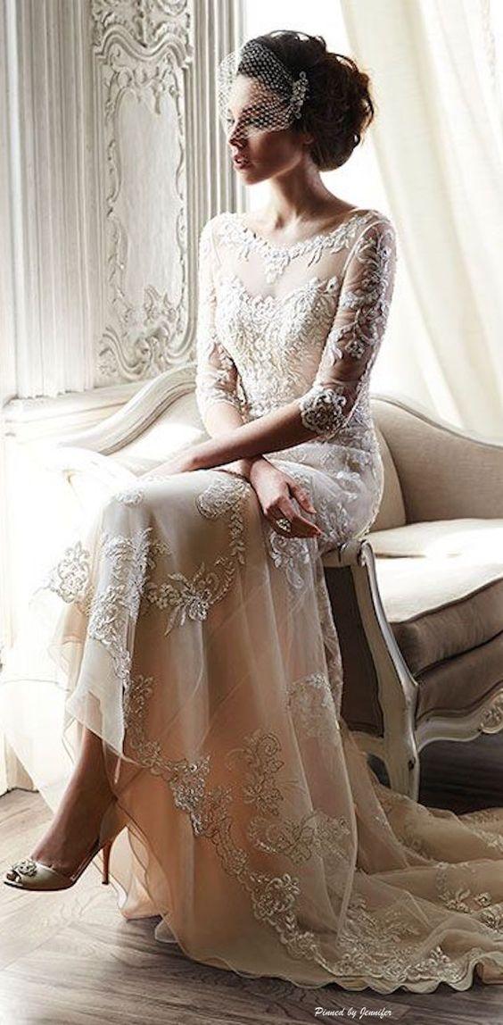 Svadobné šaty s dlhými rukávmi - Obrázok č. 30