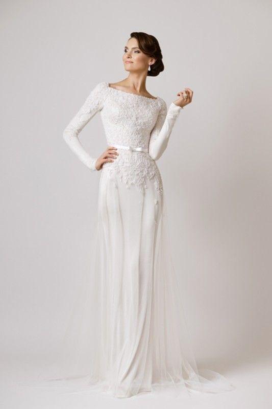 Svadobné šaty s dlhými rukávmi - Obrázok č. 31