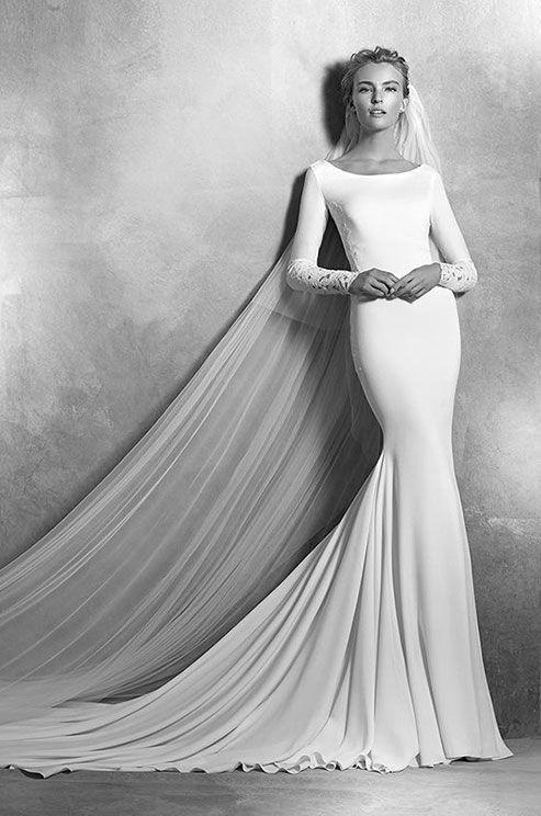 Svadobné šaty s dlhými rukávmi - Obrázok č. 33
