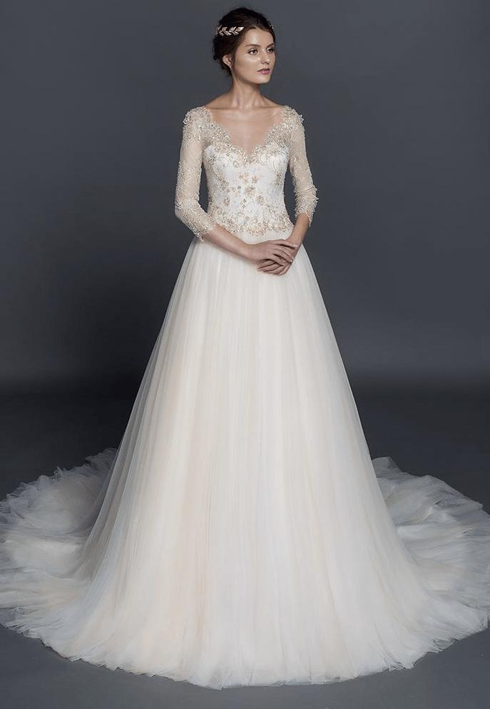 Svadobné šaty s dlhými rukávmi - Obrázok č. 34