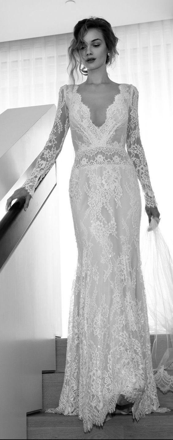 Svadobné šaty s dlhými rukávmi - Obrázok č. 36