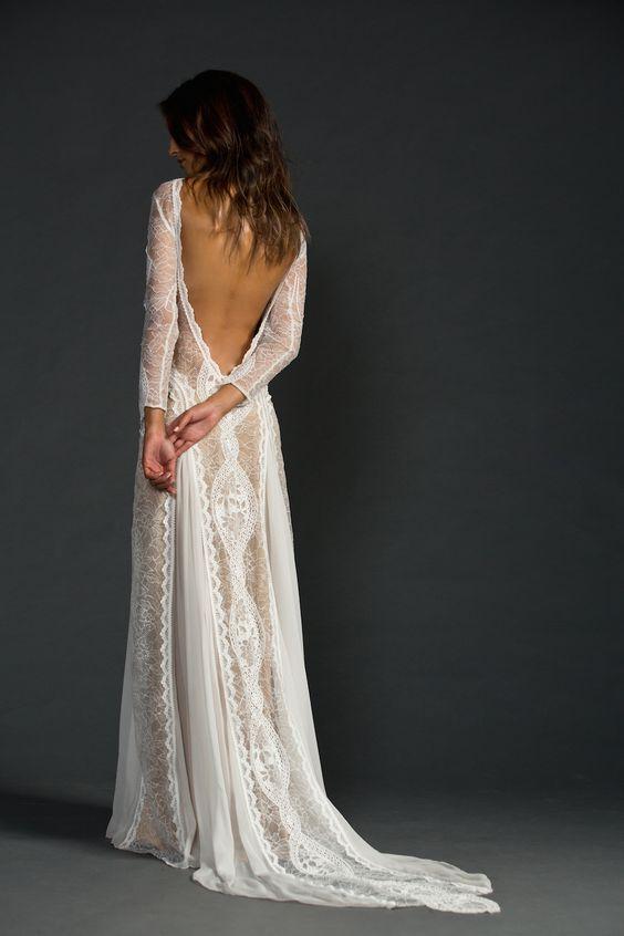 Svadobné šaty s dlhými rukávmi - Obrázok č. 41