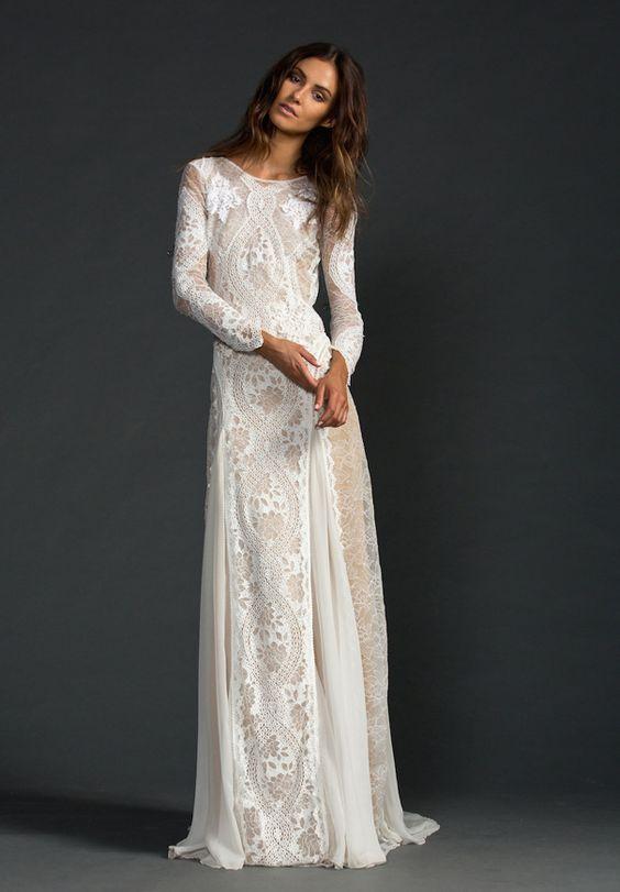 Svadobné šaty s dlhými rukávmi - Obrázok č. 42