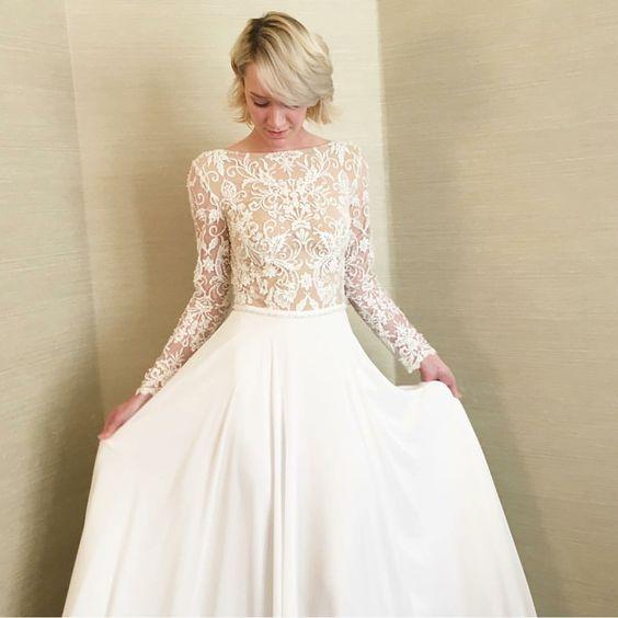 Svadobné šaty s dlhými rukávmi - Obrázok č. 48