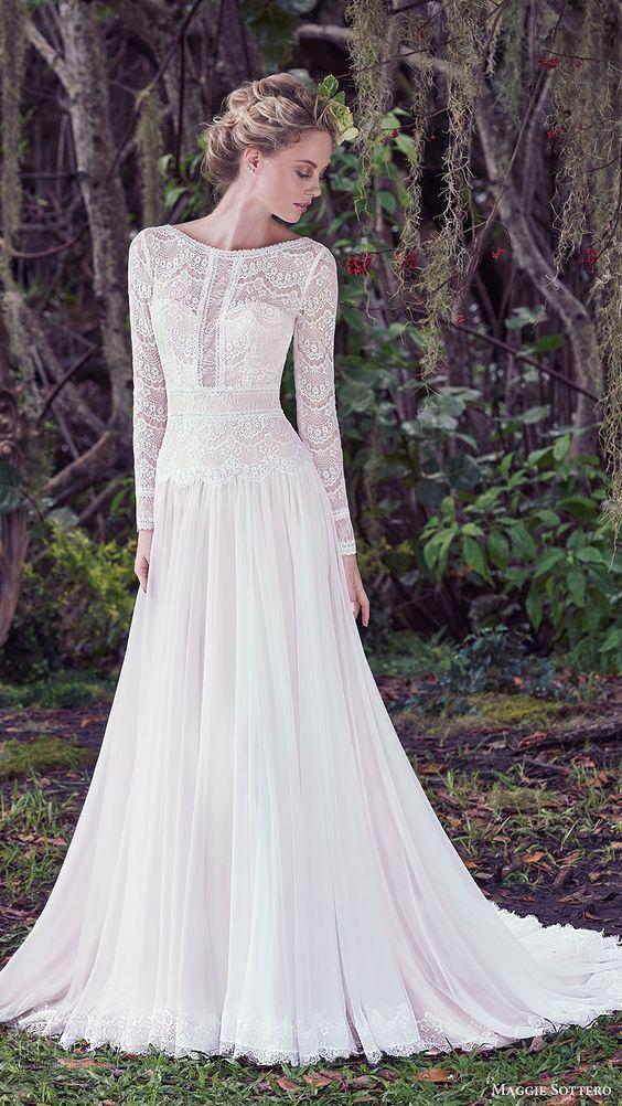 Svadobné šaty s dlhými rukávmi - Obrázok č. 49