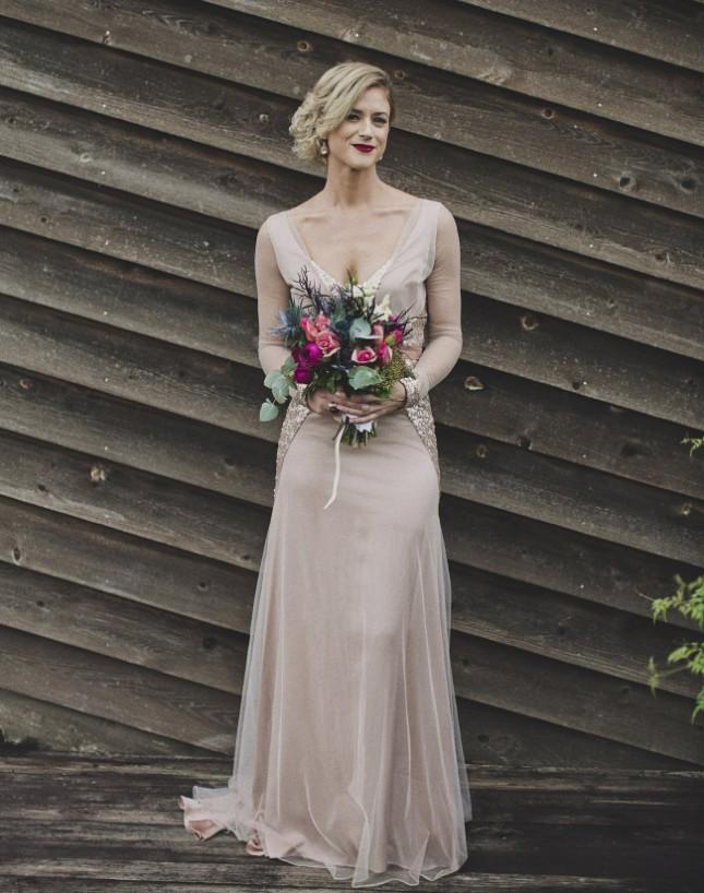 Svadobné šaty s dlhými rukávmi - Obrázok č. 67
