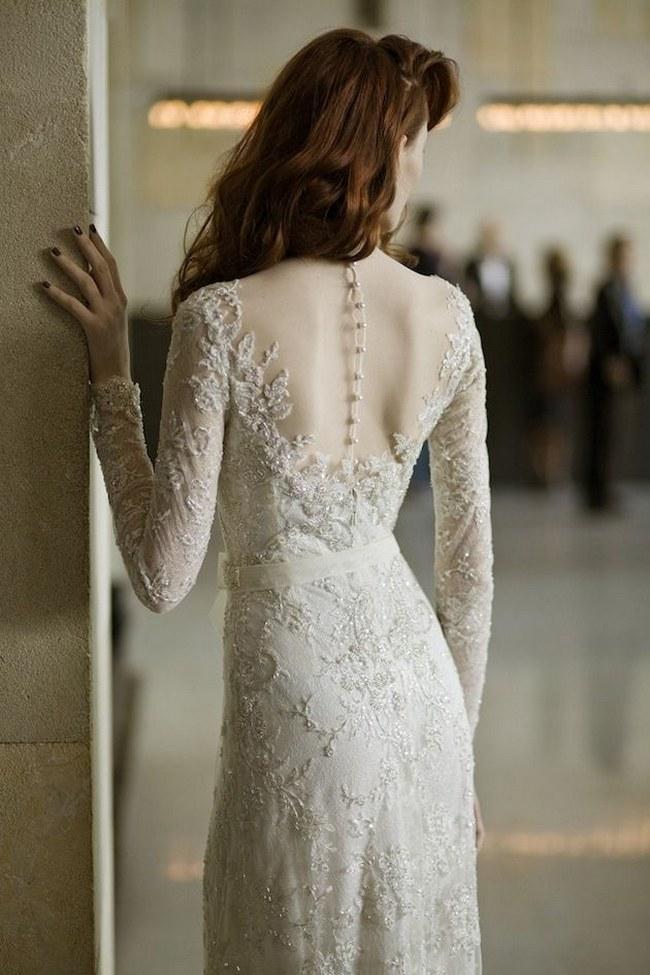 Svadobné šaty s dlhými rukávmi - Obrázok č. 76