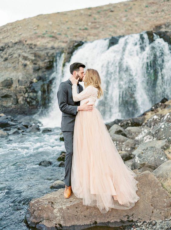 Svadobné šaty s dlhými rukávmi - Obrázok č. 84