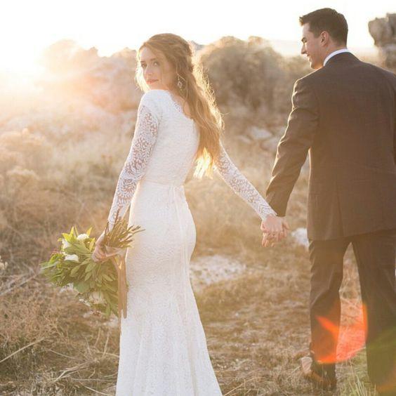 Svadobné šaty s dlhými rukávmi - Obrázok č. 88