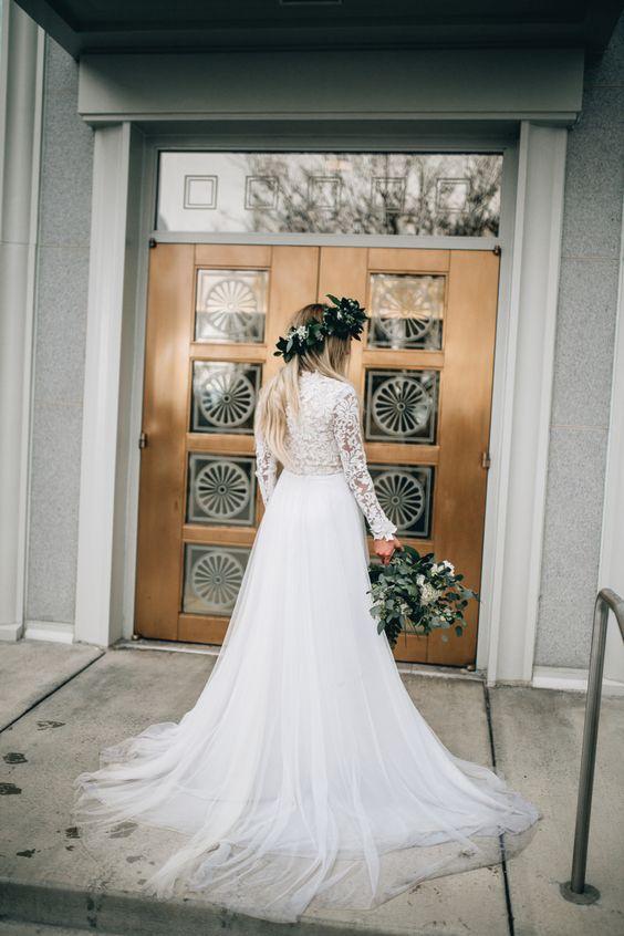 Svadobné šaty s dlhými rukávmi - Obrázok č. 89