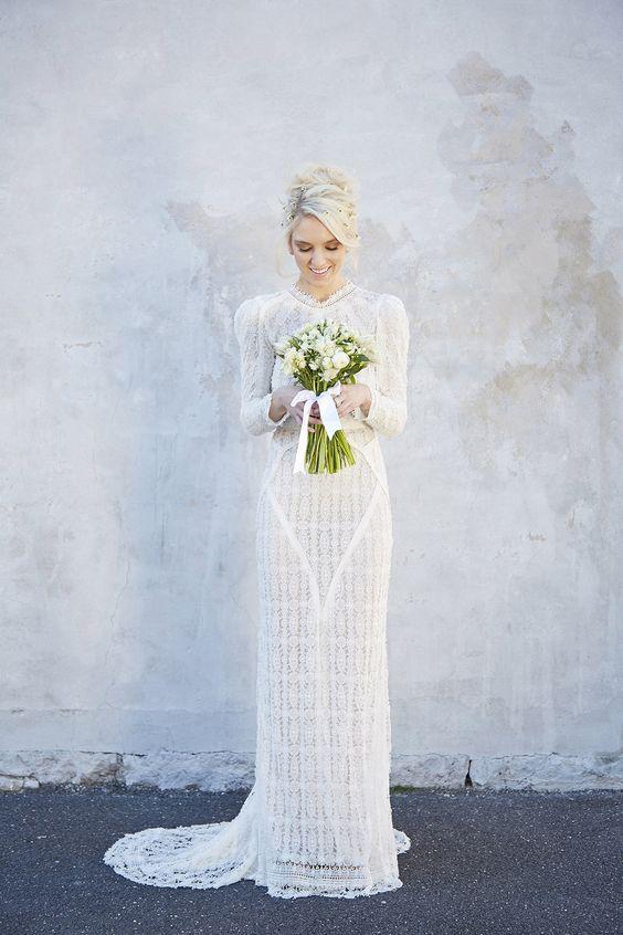 Svadobné šaty s dlhými rukávmi - Obrázok č. 93