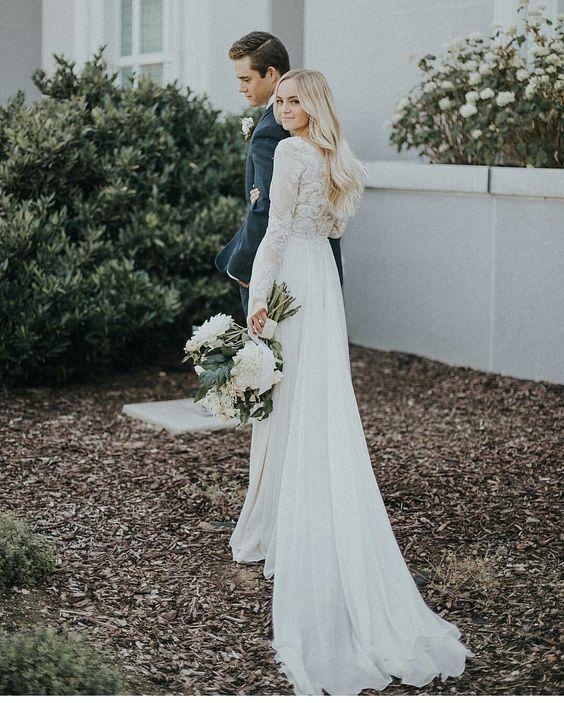 Svadobné šaty s dlhými rukávmi - Obrázok č. 96