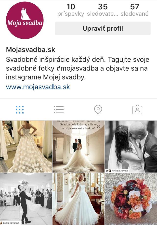 Moju svadbu môžete sledovať už aj na instagrame. Každý deň nové inšpirácie a samozrejme fotky našich neviest, ktoré sú tou najkrajšou inšpiráciou :) stačí na instagrame označiť svoju svadobnú fotografiu #mojasvadba a môžete sa aj vy stať inšpiráciou pre mnohé ďalšie nevesty :) sledujte nás na https://www.instagram.com/mojasvadba/ - Obrázok č. 1