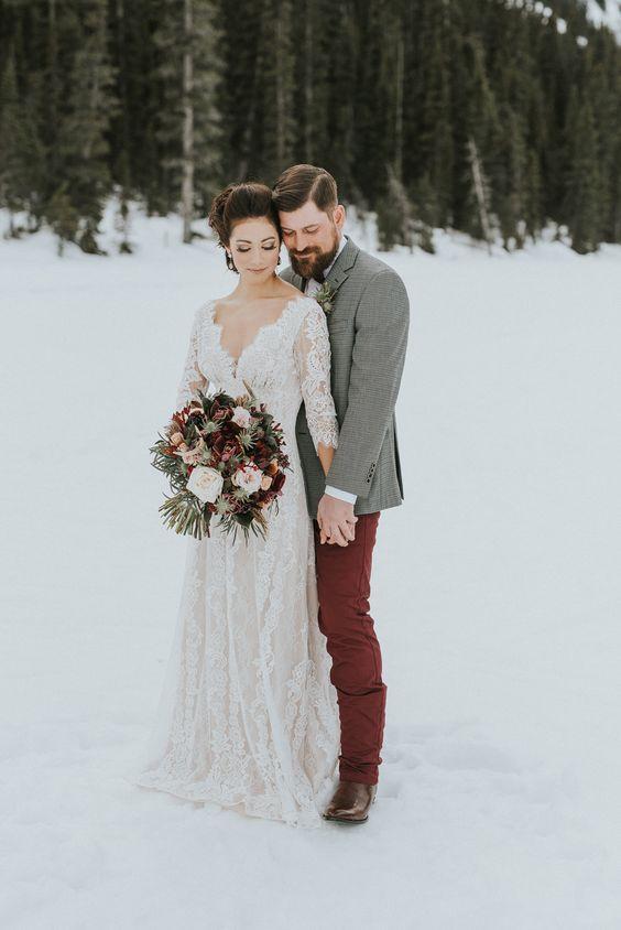 Ak by sa sneh dal objednať, hneď by som zvolila svadbu v zime. Zasnežené svadobné fotky majú neodolateľné čaro :) - Obrázok č. 2