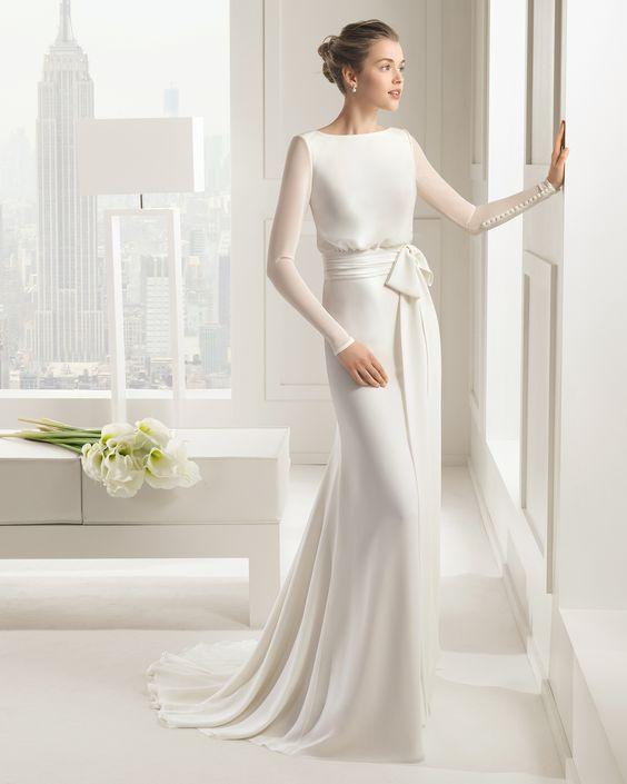Tak jednoducho, ako sa len dá (minimalizmus v svadobných šatách) - Obrázok č. 4