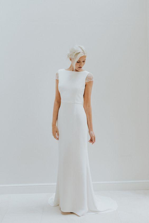 Tak jednoducho, ako sa len dá (minimalizmus v svadobných šatách) - Obrázok č. 9