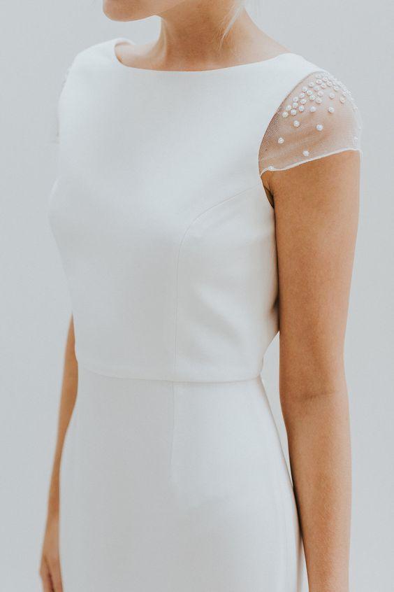Tak jednoducho, ako sa len dá (minimalizmus v svadobných šatách) - Obrázok č. 10