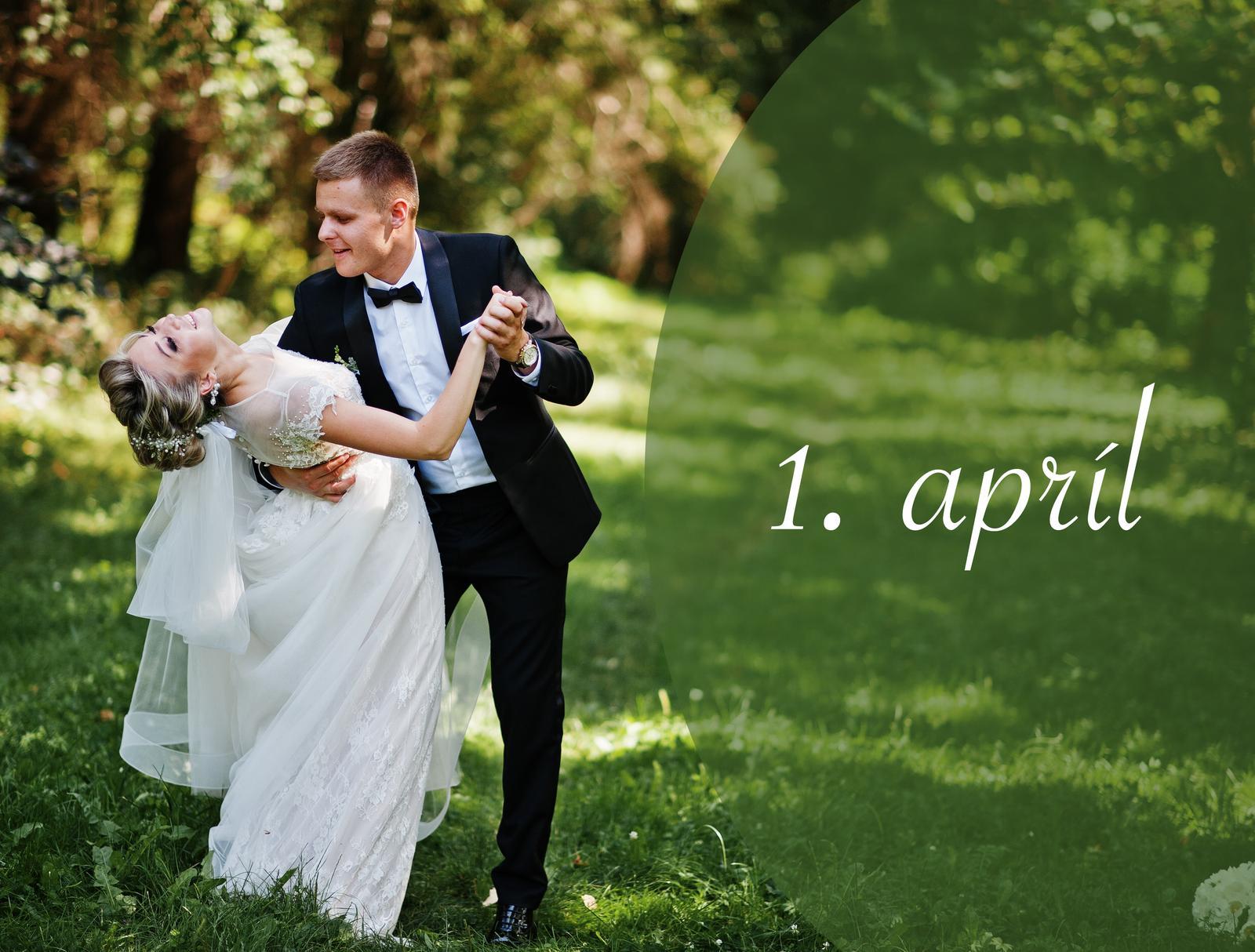 Tento víkend prvé nevesty odštartovali aprílové svadby. Všetkým prvoaprílovým nevestám gratulujem a želám veľa veľa manželskej lásky, radostí a tých najkrajších spoločných okamihov! :) Podelíte sa s nami o svoje dojmy či prvé fotky? Myslím, že hovorím za všetky, keď poviem, že som veeeeľmi zvedavá na vaše šťastné a úsmevné svadobné spomienky z tejto nádhernej slnečnej soboty :) @veve808 @veva1995 @van13 @sonicina @simka92 @peta_332 @natalibi @mia8862 @luptak_k @lulusiaa @katusssa @kamilka76 @jarka412111 @jaadavid @inah91 @happycow @florijana @ewridika11 @evulienkars @cat2104 @adka1985adka a ďalšie, ktoré svoj termín svadby nezverejnili :) - Obrázok č. 1